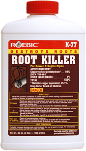 K 77 Root Killer Destroys Clogging Tree And Shrub Roots