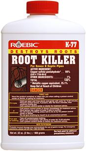 K 77 Root Killer Destroys Clogging Tree And Shrub Roots